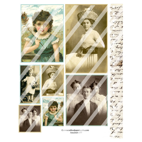 Ancestors 177 Collage Sheet