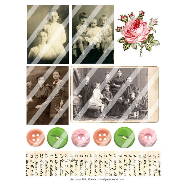 Ancestors 183 Collage Sheet
