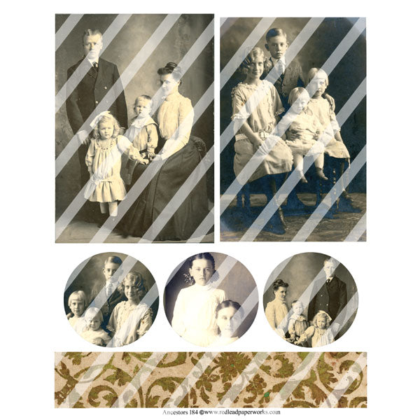 Ancestors 184 Collage Sheet