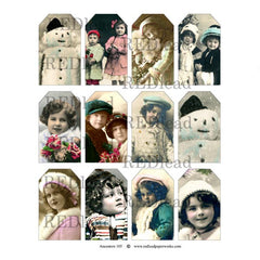 Collage Sheet Ancestors 105 Winter Tags