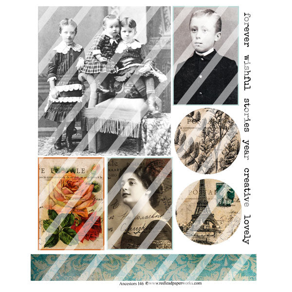Ancestors 146 Collage Sheet