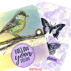 Follow Your Dream Bird Rubber Stamp