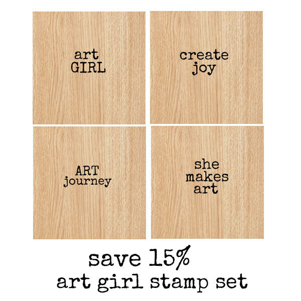 Art Girl Mounted Rubber Stamp Set Save 15%