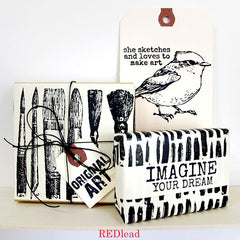 She Paints Rubber Stamp