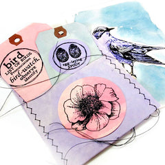 Feel the Gladness of an Early Spring Bird Rubber Stamp