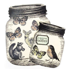 Short Mason Jar Rubber Stamp