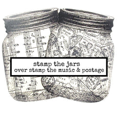 Large Mason Jar Rubber Stamp