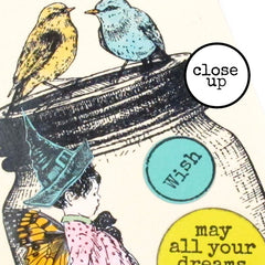 Three Little Birds Rubber Stamp