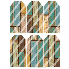 Artisan 21 Rustic Wood Tags Collage Sheet