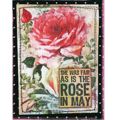 Vintage Elements 85 Collage Sheet - Roses