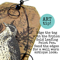 how to antique paper tags