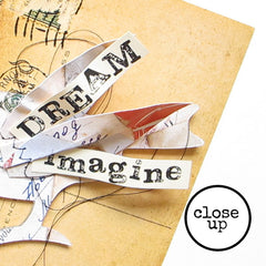 Dream Wood Mounted Rubber Stamp