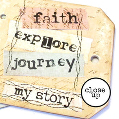 Faith Explore Journey My Story Rubber Stamp Save 20%