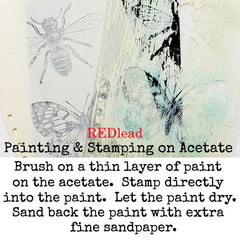 Nature Rubber Stamp Butterfly and Bee