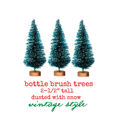 "3 Bottle Brush Trees 2-1/2"" Save 20%"