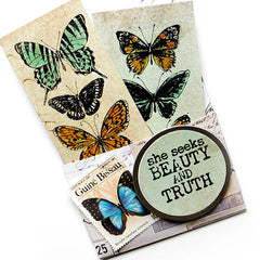 Brave Wings Butterfly Rubber Stamp Save 10%