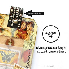 butterfly tag rubber stamp