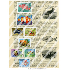 By the Sea 35 Collage Sheet