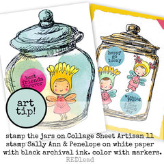 Large Jam Jar Rubber Stamp