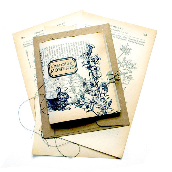 Charming Moments Small Stitched Journal