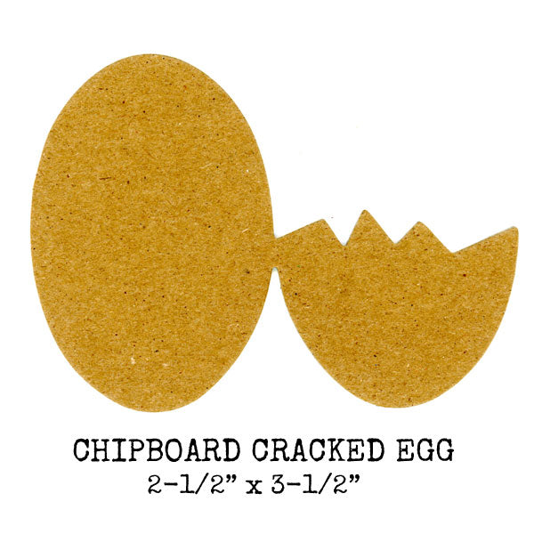 2 Chipboard Cracked Eggs