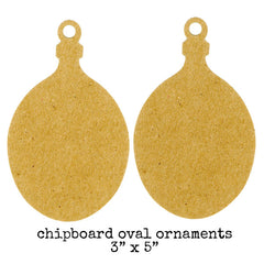 chipboard christmas ornaments