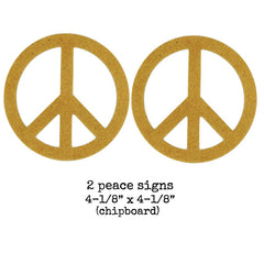 2 Chipboard Peace Signs