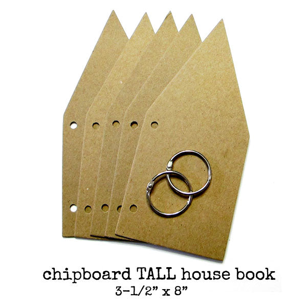 Chipboard Tall House Book
