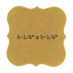label shape chipboard