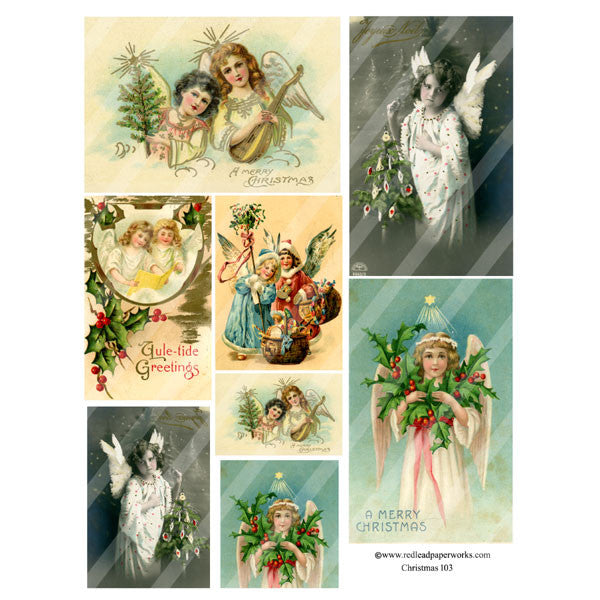 Christmas Collage Sheet 103 Angels