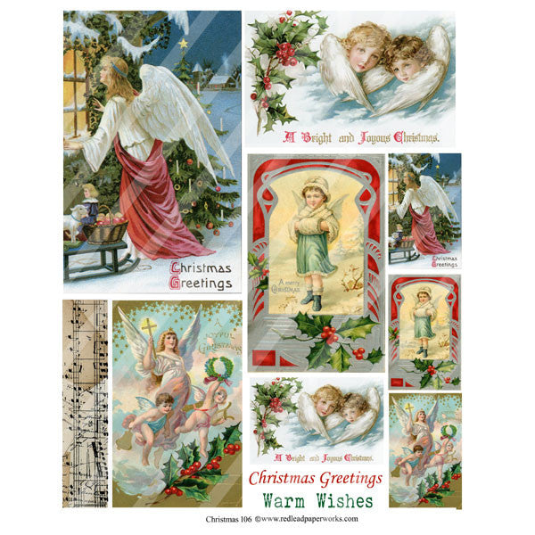 Christmas Collage Sheet 106 Angels