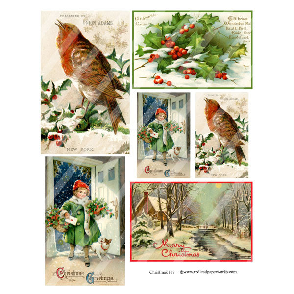 Christmas Collage Sheet 107