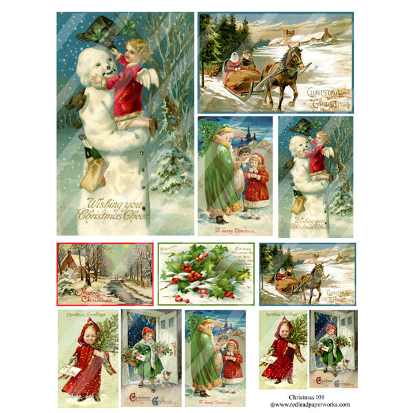 Christmas Collage Sheet 108