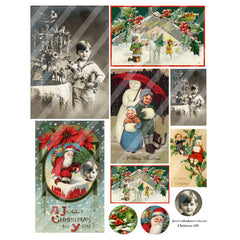 Christmas Collage Sheet 109