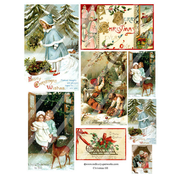 Christmas Collage Sheet 110