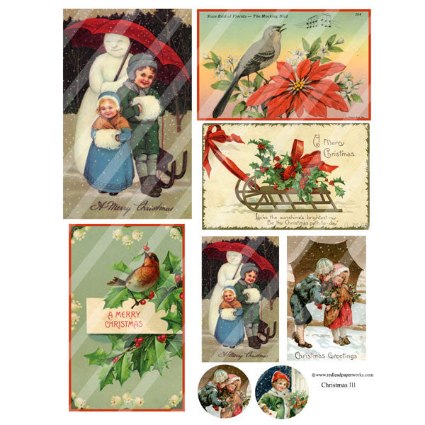 Christmas Collage Sheet 111