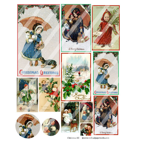 Christmas Collage Sheet 112