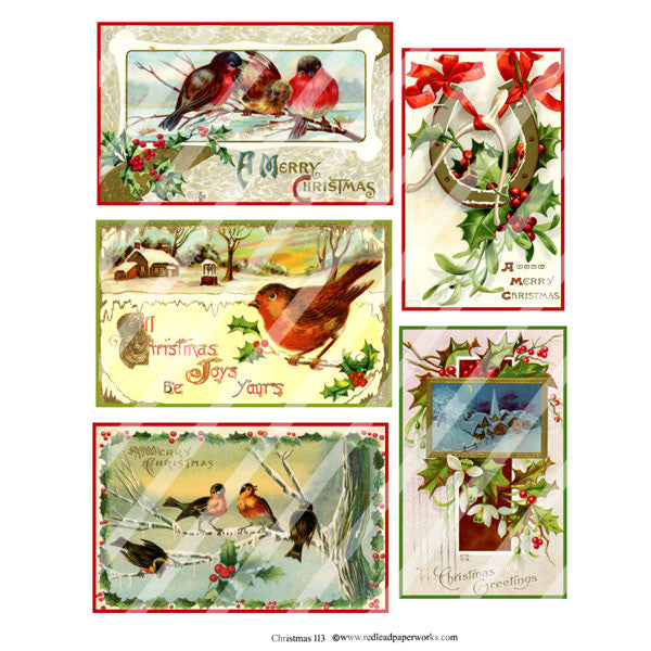 Christmas Collage Sheet 113