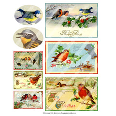 Bird Postcards are featured on Christmas Collage Sheet 114