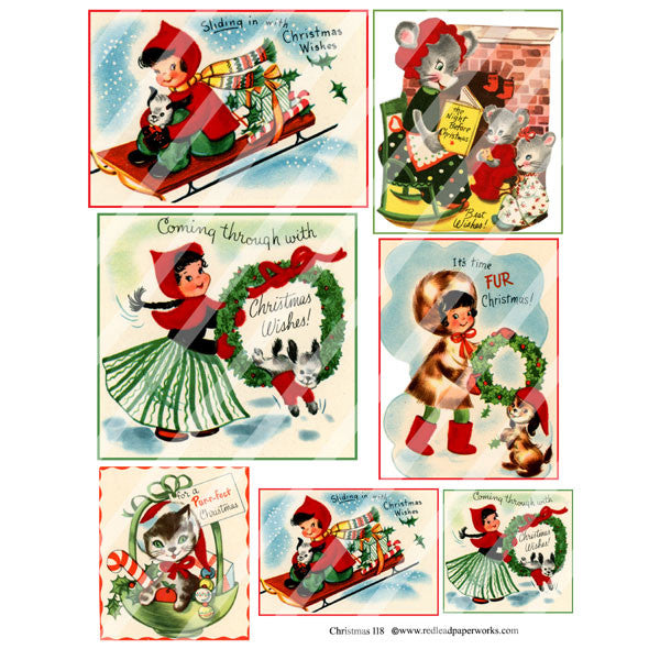 Cute Christmas 118 Collage Sheet