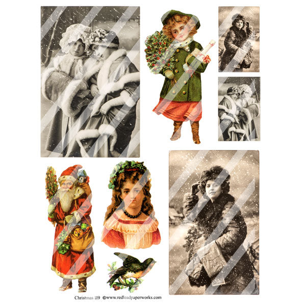 Christmas Collage Sheet 119