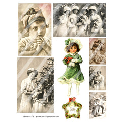 Christmas Collage Sheet 120