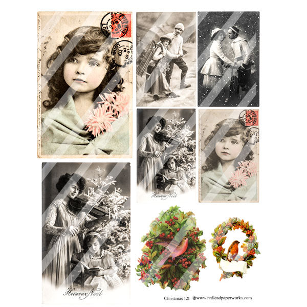 Christmas Collage Sheet 121