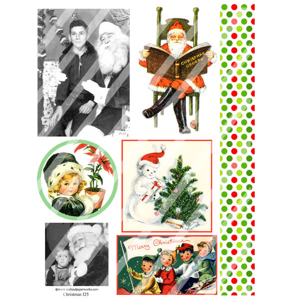 Christmas Collage Sheet 125