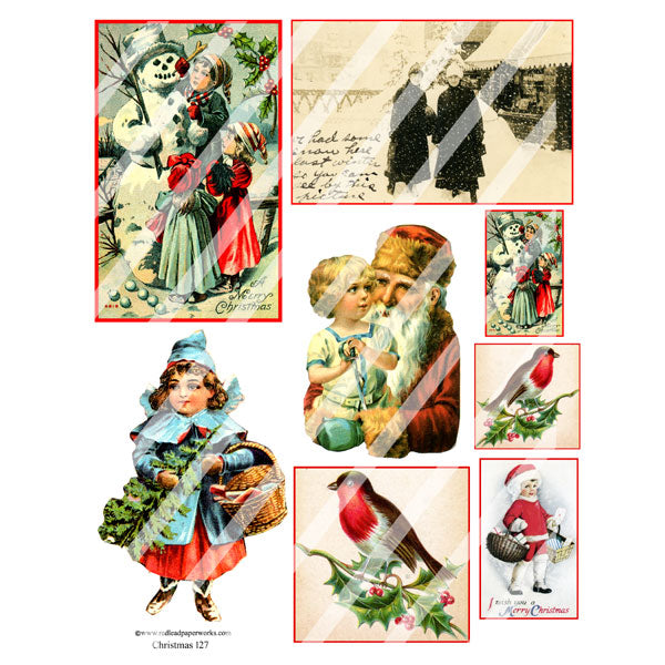 Christmas Collage Sheet 127