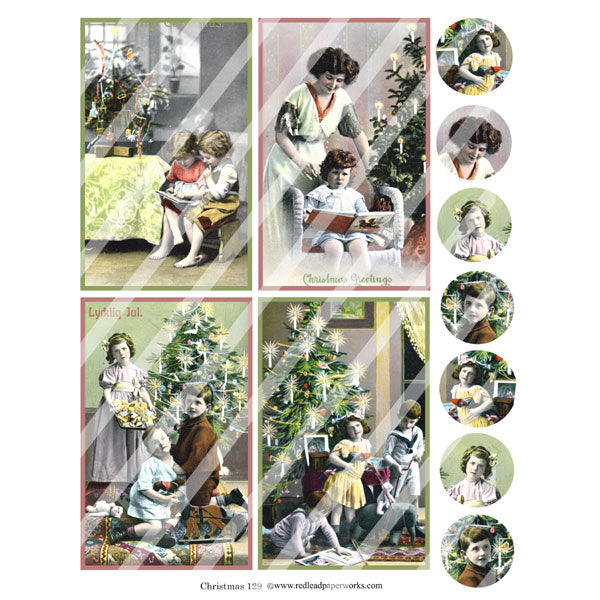 Christmas 129 Collage Sheet