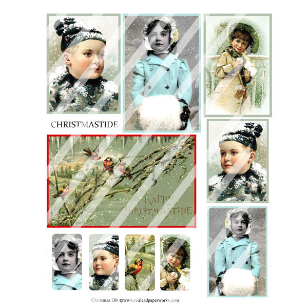 Christmas Collage Sheet 130