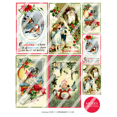 Christmas 133 Collage Sheet