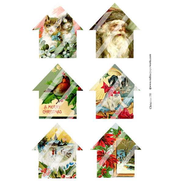 Christmas Collage Sheet 135 Houses Save 50%