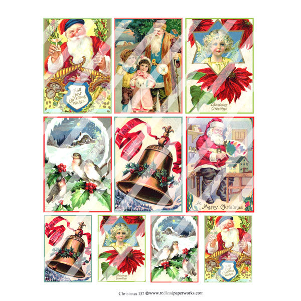 Christmas 137 Collage Sheet